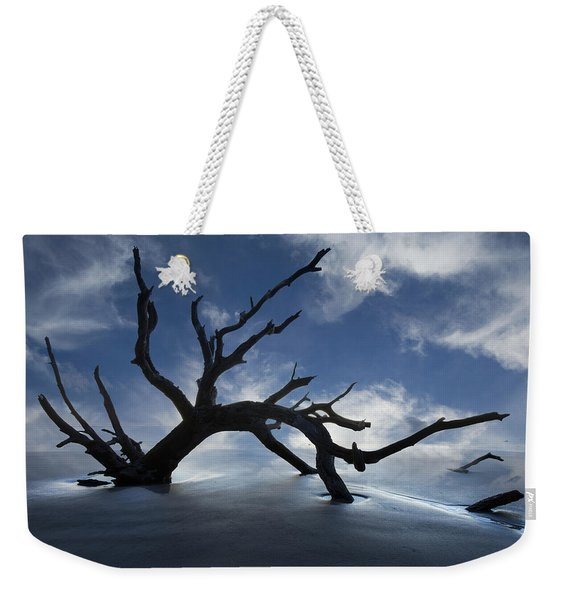 On A Misty Morning Weekender Tote Bag