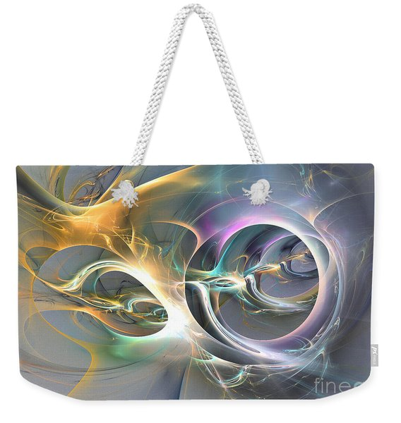 On Fire - Abstract Art Weekender Tote Bag
