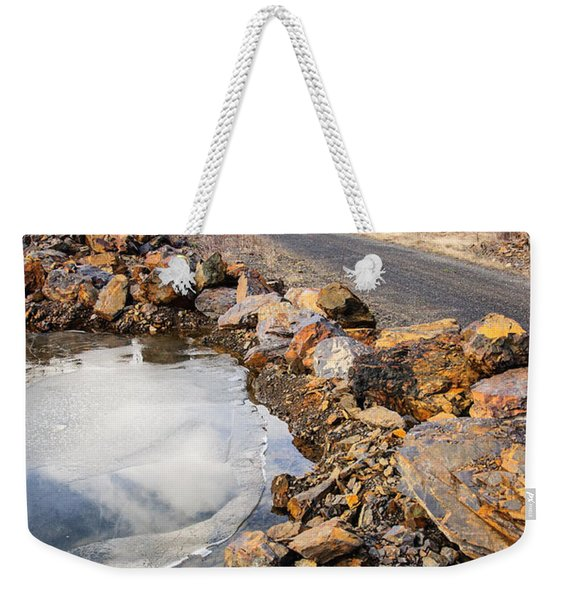 On Frozen Pond Collection 6 Weekender Tote Bag