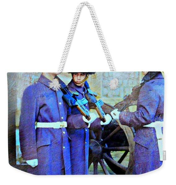 On Guard London Weekender Tote Bag