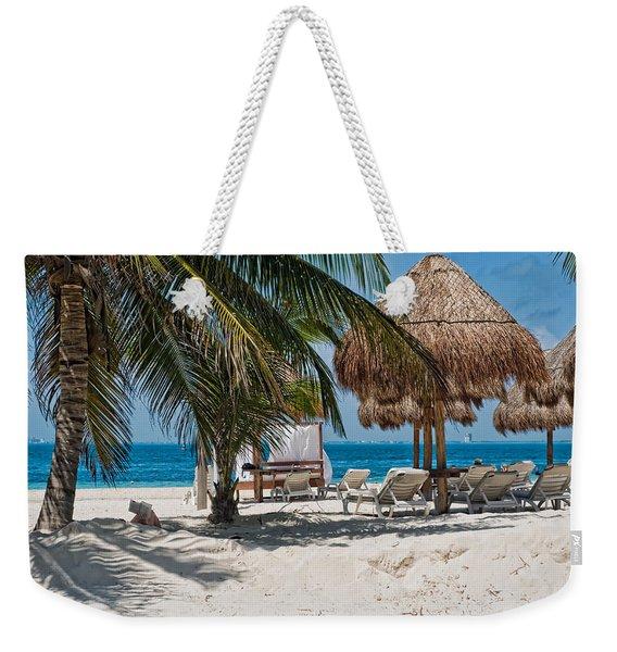 White Sandy Beach In Isla Mujeres Weekender Tote Bag