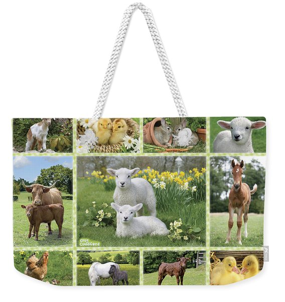 On The Farm Multipic Weekender Tote Bag