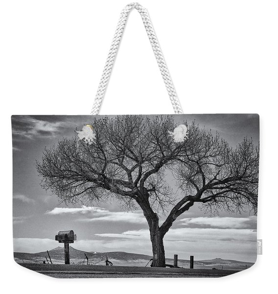 Weekender Tote Bag featuring the photograph On The Road To Taos by Mary Lee Dereske