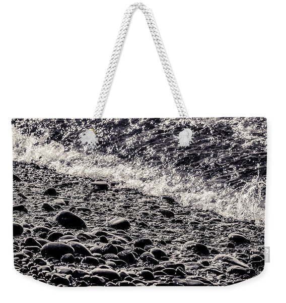 On The Rocks  French Beach Square Weekender Tote Bag