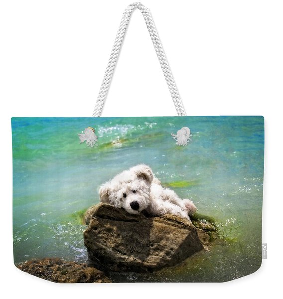 On The Rocks - Teddy Bear Art By William Patrick And Sharon Cummings Weekender Tote Bag