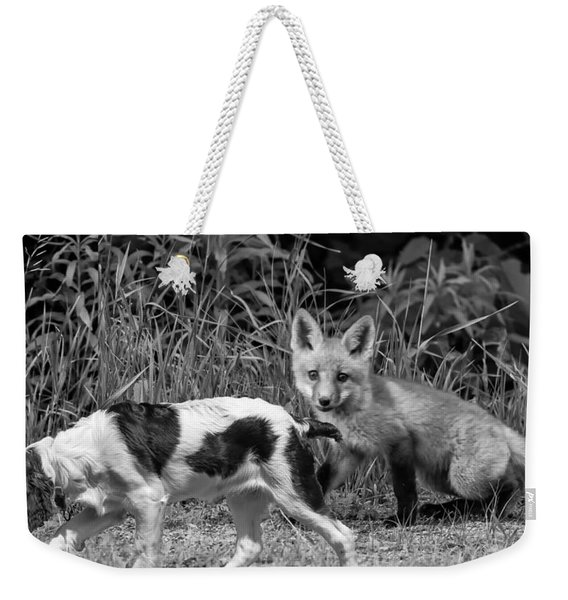 On The Scent Monochrome Weekender Tote Bag