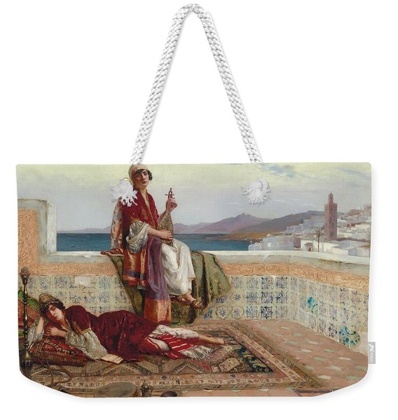 On The Terrace Tangiers Weekender Tote Bag