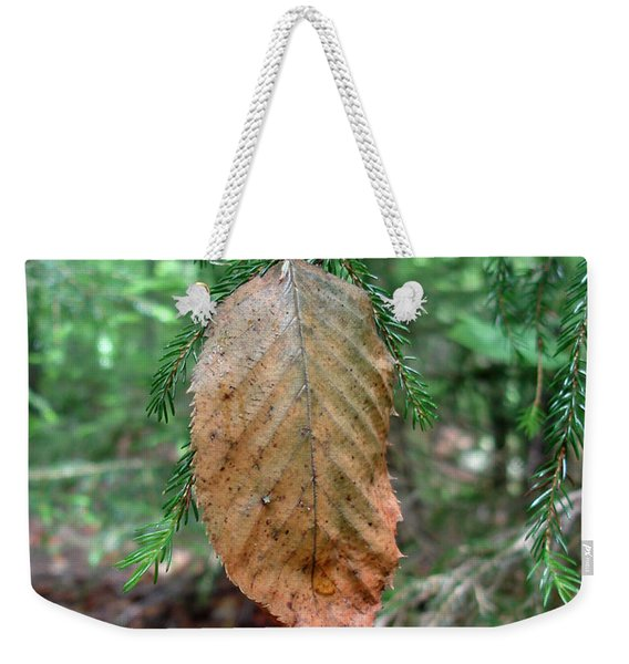 On The Wrong Tree Weekender Tote Bag