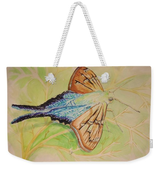 One Day In A Long-tailed Skipper Moth's Life Weekender Tote Bag