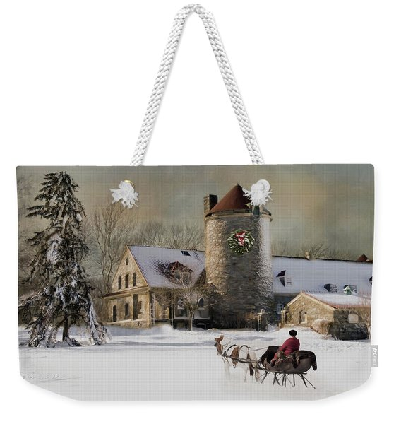 One Horse Open Sleigh Weekender Tote Bag