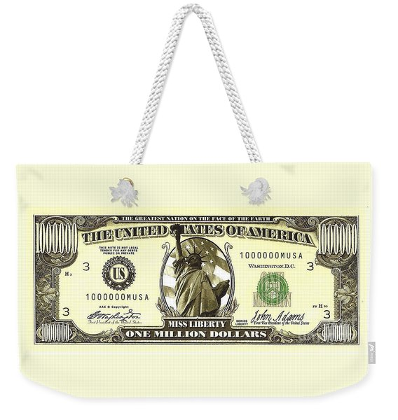 One Million Dollar Bill Weekender Tote Bag