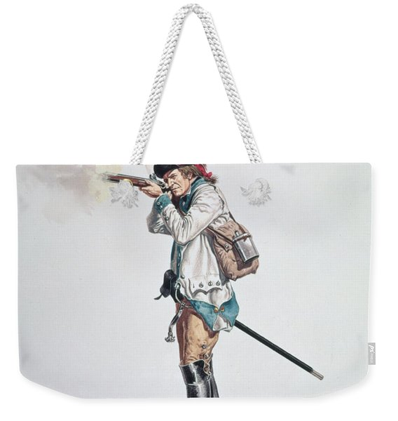 One Of Washingtons 3rd Continental Dragoons Wc On Paper Weekender Tote Bag