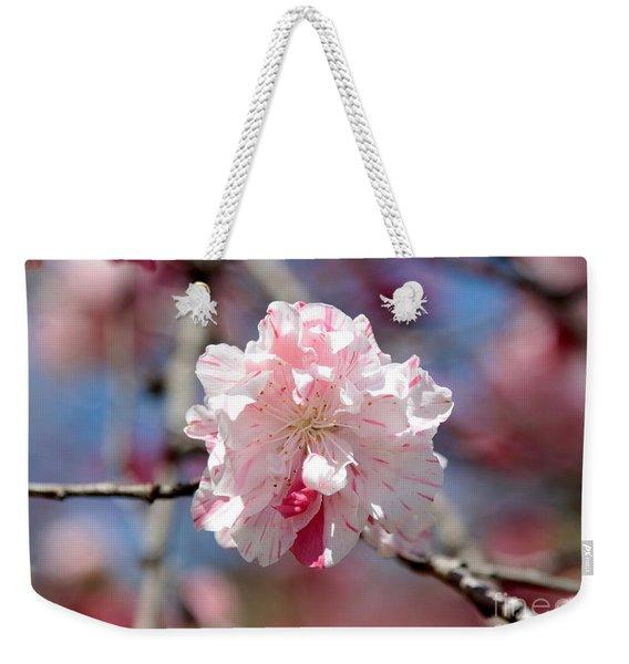 One Pink Blossom Weekender Tote Bag