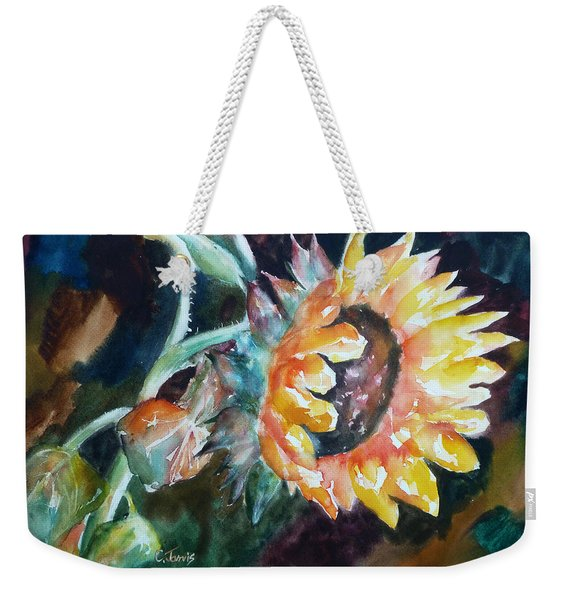 One Sunflower Weekender Tote Bag
