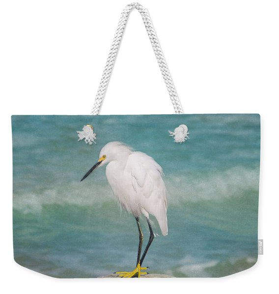 One With Nature - Snowy Egret Weekender Tote Bag