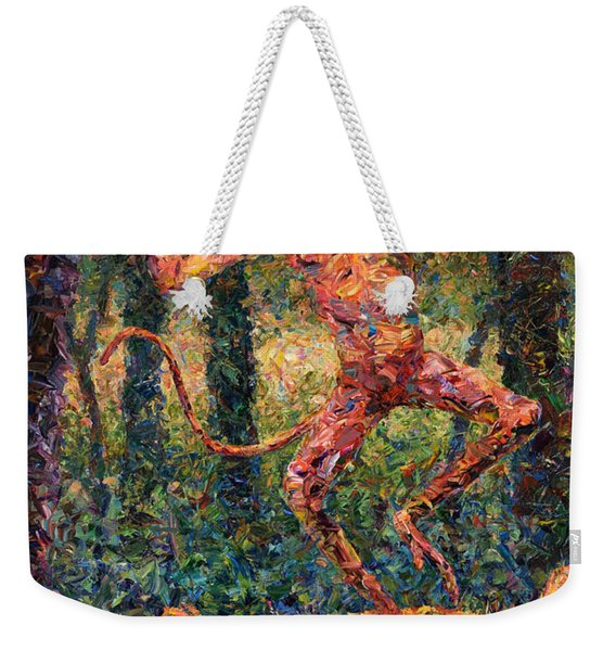 Only A Crazy Monkey Dances On A Tiger's Head Weekender Tote Bag
