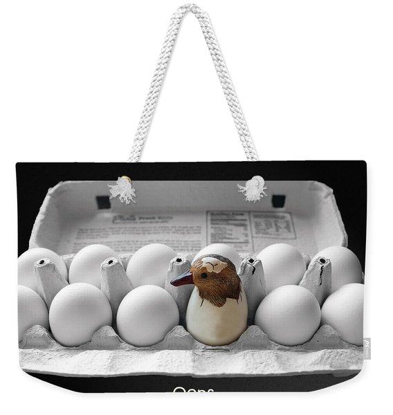 Oops Weekender Tote Bag
