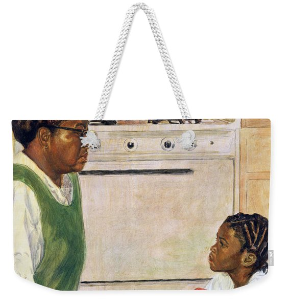 Open Heart Weekender Tote Bag