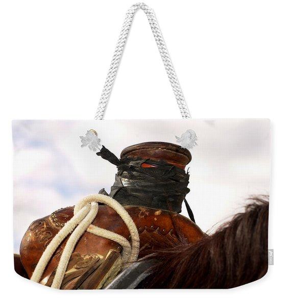 Open Range Saddle Weekender Tote Bag