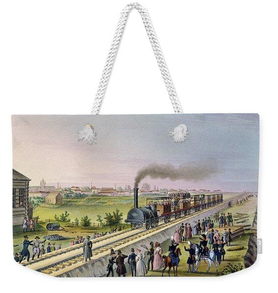 Opening Of The First Railway Line From Tsarskoe Selo To Pavlovsk In 1837 Weekender Tote Bag