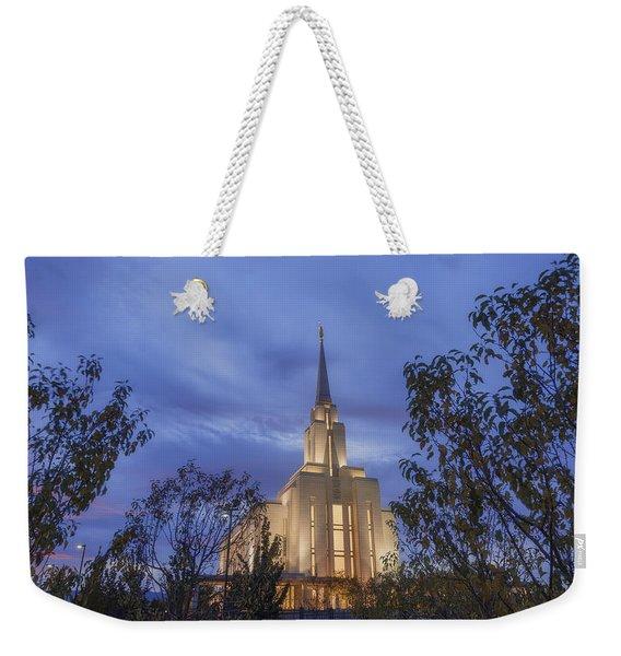 Oquirrh Mountain Temple II Weekender Tote Bag