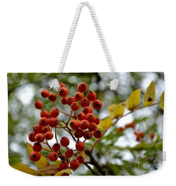 Orange Autumn Berries Weekender Tote Bag
