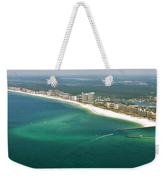 Looking N W Across Perdio Pass To Gulf Shores Weekender Tote Bag