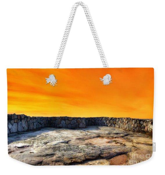 Orange Blaze Weekender Tote Bag