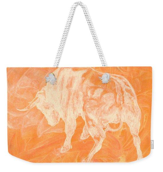 Orange Bull Negative Weekender Tote Bag
