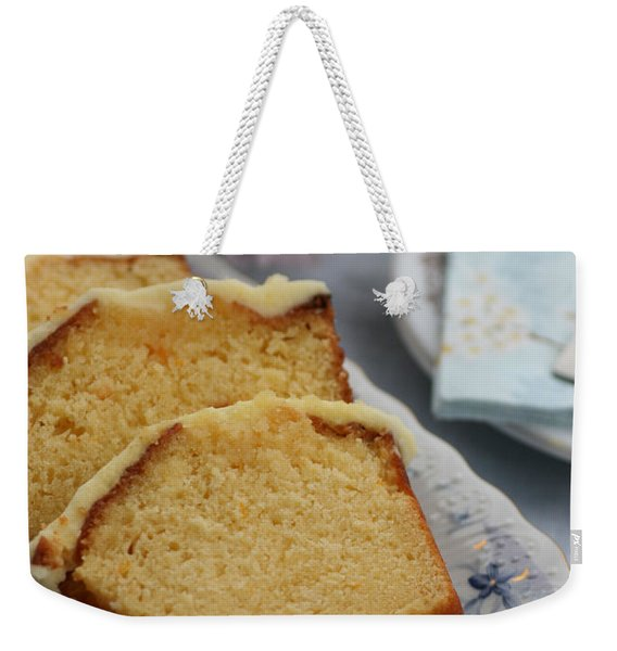 Orange Cake Weekender Tote Bag