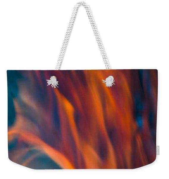 Orange Fire Weekender Tote Bag