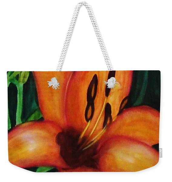 Beautiful Lily Flower Weekender Tote Bag