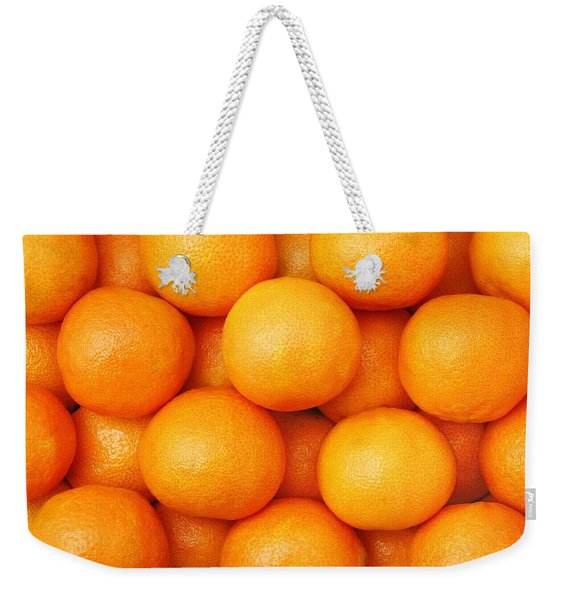 Orange Geometry Weekender Tote Bag