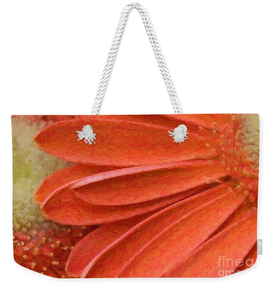 Orange Gerber Daisy Painting Weekender Tote Bag