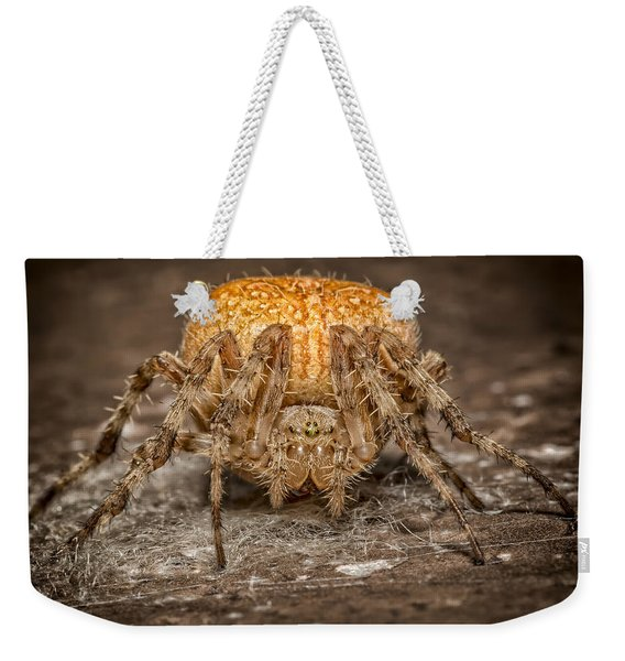 Orange Marbled Orb Weaver Weekender Tote Bag