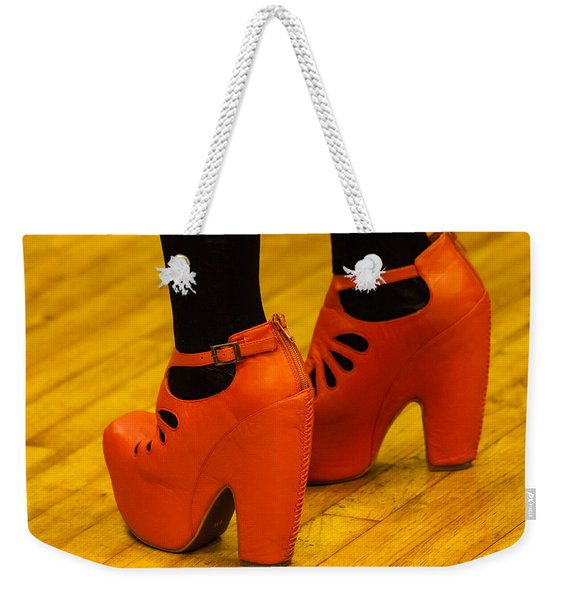 Orange Pair Weekender Tote Bag