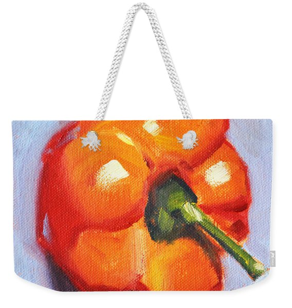 Orange Pepper Still Life Weekender Tote Bag