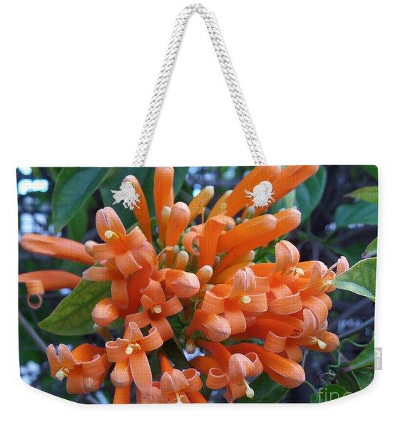 Orange Petals Weekender Tote Bag