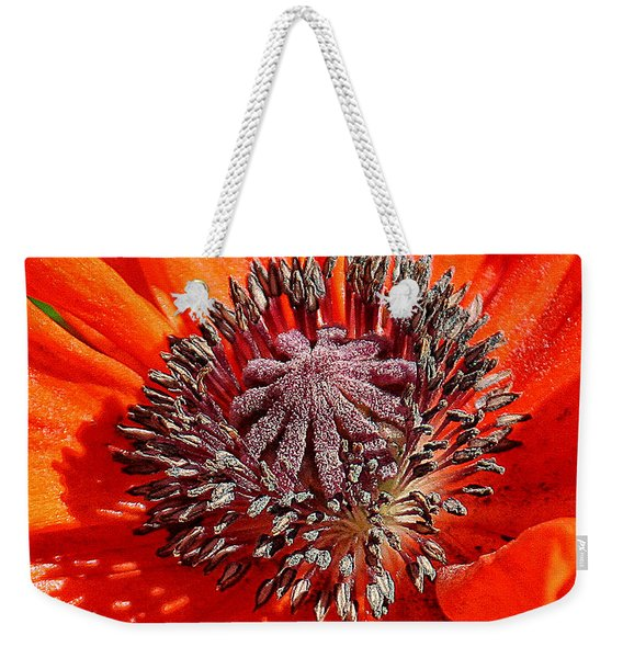 Weekender Tote Bag featuring the photograph Orange Poppy by William Selander