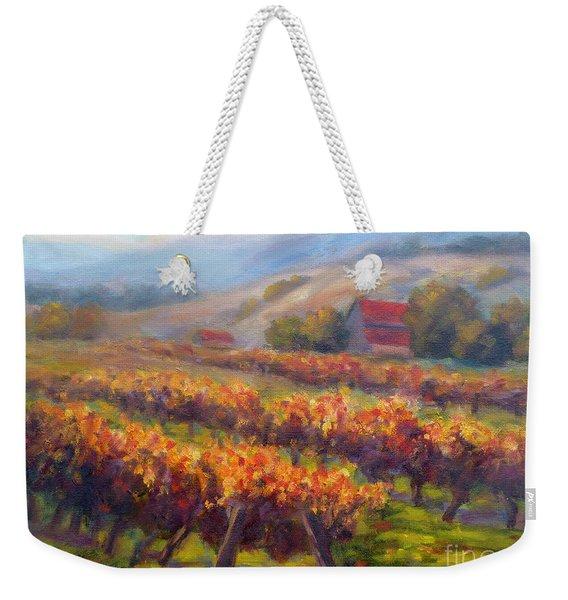 Orange Red Vines Weekender Tote Bag