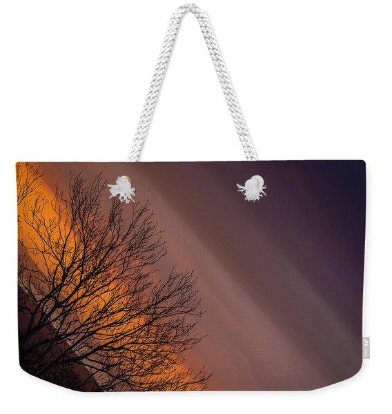 Orange Sunrise Weekender Tote Bag