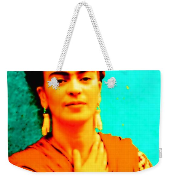 Orange You Glad It Is Frida Weekender Tote Bag