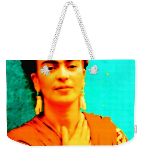 Orange You Glad It Is Frida Weekender Tote Bag