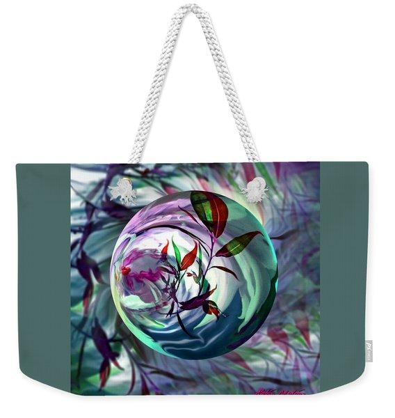 Orbiting Cranberry Dreams Weekender Tote Bag