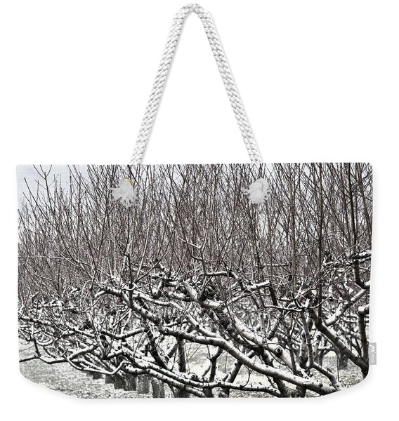 Orchard In Winter Weekender Tote Bag