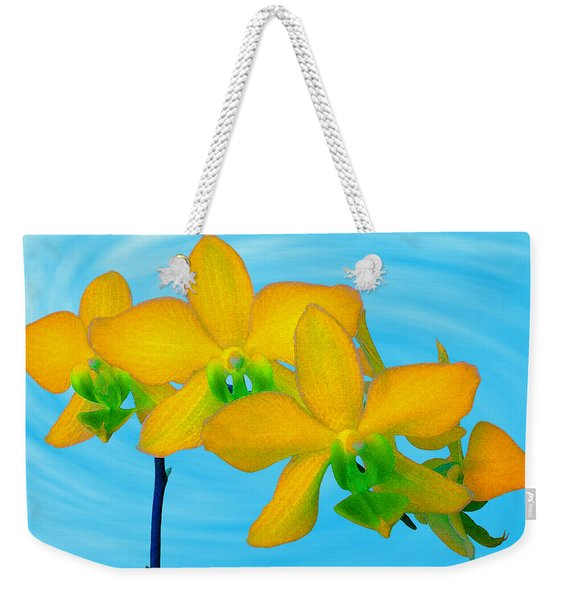 Orchid In Yellow Weekender Tote Bag
