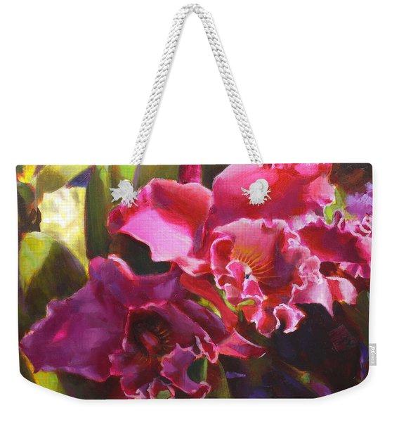 Orchids In Magenta Weekender Tote Bag