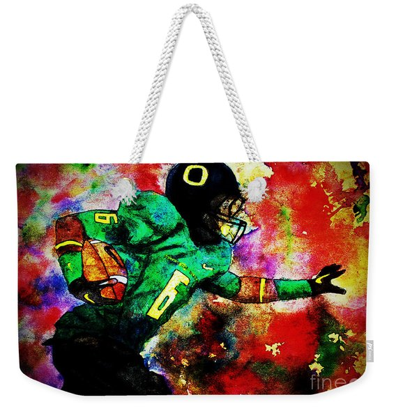 Oregon Football 3 Weekender Tote Bag