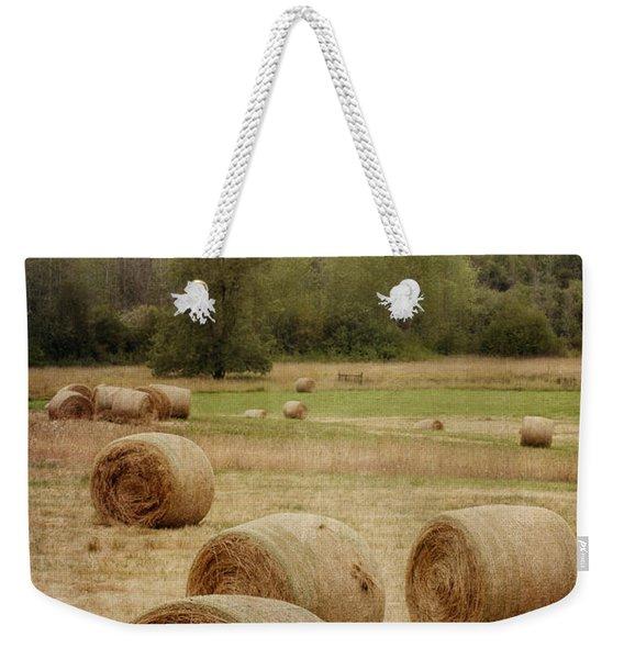 Oregon Hay Bales Weekender Tote Bag
