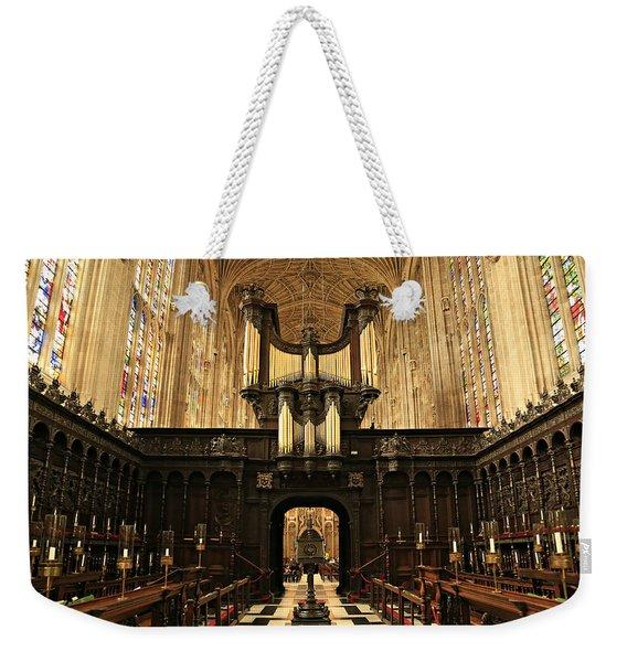 Organ And Choir - King's College Chapel Weekender Tote Bag